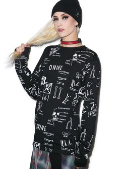 D9 Reserve Basquiat Anatomy Long Sleeve Tee | Dolls Kill