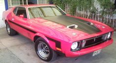 Ford Mustang Mach 1 - 1973..i gotta show my dad this. he owns this same exact car in silver & black. lol