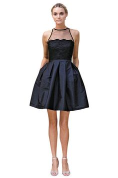 Navy bridesmaid dress by Monique Lhuillier