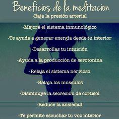 #Beneficios de la #meditación
