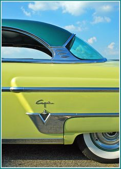 Lime  Turquoise 1954 Lincoln Capri