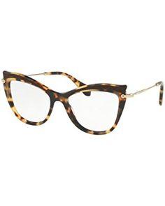30d836eca03 Eyeglasses Miu Miu MU 6 PVA VIF1O1 LIGHT HAVANA