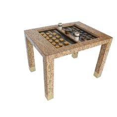 Bamboo Backgammon Table in the style of Karl Springer