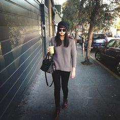 Annabel Ly of BlushingAmbition wearing Hudson Jeans nicos, Modernvice Jodhpurs, Rebecca Minkoff bag, Mango sweater