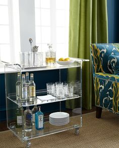 acrylic bar cart, please!