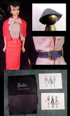 VINTAGE BARBIE BUSY GAL #981 (1960-1961)  see Robert Best fashion illustrations (¯`'•.ೋ