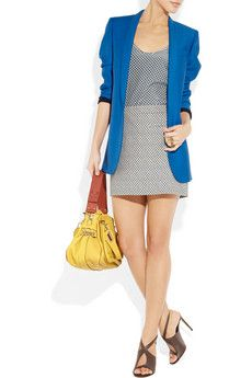 Stella McCartney outfit. Love the blue jacket!
