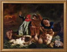 The Barque of Dante, 1822 Giclee Print by Eugene Delacroix at Art.com