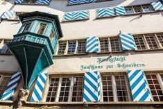 Facade of a typical house, Zurich, Switzerland. Gothic Lettering, Zurich, Switzerland, Facade, House, Home, Facades, Homes, Houses