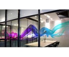 Creative glass graphics can transform glass or make a solid wall look like a glass wall if the correct material is specified.   Design and Specify, office design, Leeds, Yorkshire,