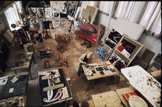 "colin-vian: ""  L'atelier de Joan Miró - Palma, 1974 """