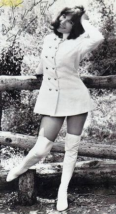 Janice Rule (Shelia) in a mod outfit for The Ambushers Vintage Boots, Vintage Outfits, Stella Stevens, Leo Women, Sixties Fashion, Old Hollywood Glamour, Nice Legs, Sexy Boots, Vintage Beauty