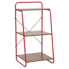 Buy Dalston Walnut 3 Shelf Storage, Red from our Bookcases & Display Units range - Tesco