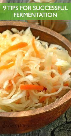 9 Tips for Successful Fermentation -  www.savorylotus #fermentedfoods