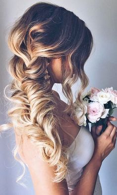 "Sharing things we love makes us happy. We can't get over the look of this loose braid. Type ""Yes"" if you agree! #WeddingHair #Braid #PSWeddingsAndEvents #OnPoint"