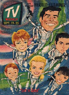 From my Lost in Space scrapbook - the cover of the L.A. Herald-Examiner TV Weekly for Sept. 19-25th, 1965.