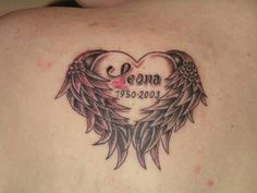 cool Memorial tattoo - Love the placement, and the name in between the wings, and the... by http://dezdemonexoticplaces.space/name-tattoo-placements/memorial-tattoo-love-the-placement-and-the-name-in-between-the-wings-and-the/