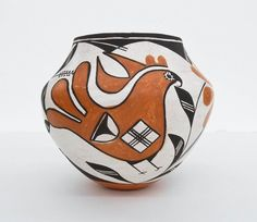 Native Pottery Jar : Excellent Native American Acoma