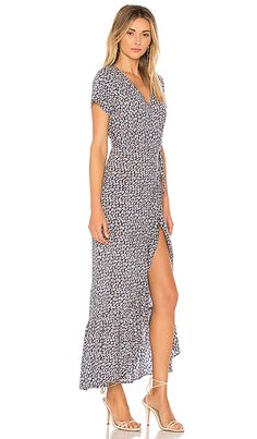 Shop for AUGUSTE Daisy Love Wrap Maxi Dress in Navy at REVOLVE. Free 2-3 day shipping and returns, 30 day price match guarantee.