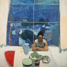 Alberto Morrocco, (1917–98), Studio Window, Anticoli, oil on board, 63 x 63.3/4 in.