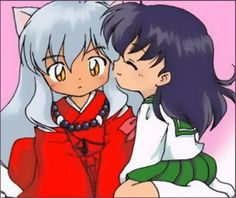 the two cuties Inuyasha,Kagome by cloe14.deviantart.com on @deviantART