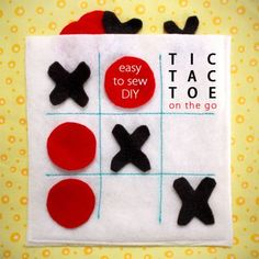This beginning sewing project comes together in minutes and makes a great gift for anyone who travels with kids. The felt Tic-Tac-Toe game board doubles as a pouch for storing the game pieces. It's lightweight, easy to stash into your purse, and makes a perfect quiet busy activity for waiting rooms, restaurants, and long road trips alike!