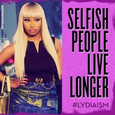 Selfish people live longer apparently