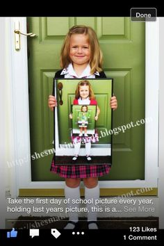day of school? I already started this Tradition for Christmas need to remember for Birthdays and school. Back To School Pictures, School Photos, Traditions To Start, Family Traditions, Birthday Pictures, Baby Pictures, Birthday Traditions, Starting School, 1st Day Of School