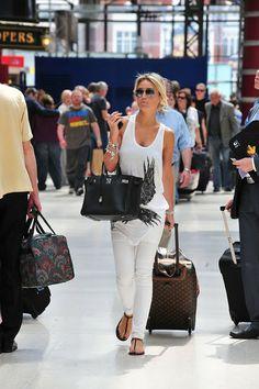 My Birkin Blog: Airport Style | Alex Curran Gerrard 30 CM Birkin i...