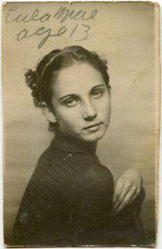 Eula Mae age 13 vintage portrait