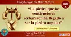 MISIONEROS DE LA PALABRA DIVINA: EVANGELIO - SAN MATEO  21,33-43