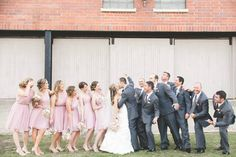 Designer/Planner: Dandy Details Events Fun Wedding Party Pictures  Rustic Wedding Blush Pink Wedding French Country Inspired Wedding