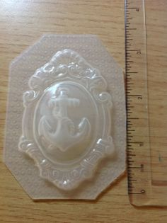 Anchor Cameo Resin Mold  This is a brand new flexible resin mold.  Some molds may have watermarks, which you can remove by glazing the piece.