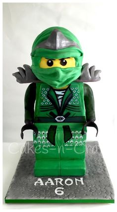 3D Lego Ninjago Green Ninja!  - Cake by June milne