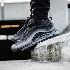 best authentic 9542c eda23 Nike Air Max 97 Nike Air Max, Air Max 1, All Black Sneakers,