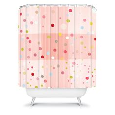 Hello Twiggs Candy Dreams Shower Curtain #polka #dots #pink #bathroom #fun