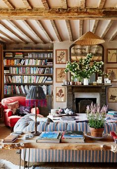 Cozy libraries with adorable fireplaces to keep you warm while you read.