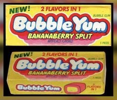 Bubble Yum - Bananaberry Split - bubble gum pack - I LOVED this flavor!