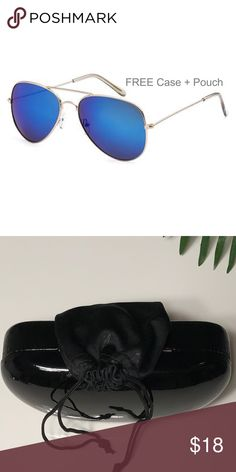 🆕SPECIAL BUY - Air Force Blue Mirrored Sunglasses New with tag. Cool brown for your eyes. Blocks 100% UVA and UVB rays. UV 400 protection. #128 Boutique Accessories Glasses