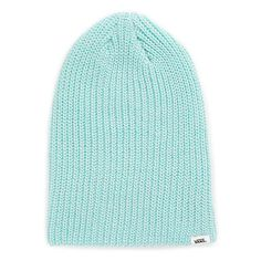 Viv Beanie (63 ILS) ❤ liked on Polyvore featuring accessories, hats, aruba blue, beanie hats, vans beanie, blue hat, acrylic beanie and blue beanie hat