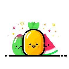 #watermelon #summer #fruits #pineapple  #sunset #sun #behance #sunshine #ux ui…