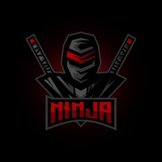 Ninja E Sports Logo Design Inspiration Stock Vector (Royalty Free) 1566324007 Logo Gamer, Guerrero Ninja, Ronin Samurai, Ninja Logo, Game Logo Design, Esports Logo, Photo Logo, Free Vector Graphics, Logo Design Inspiration