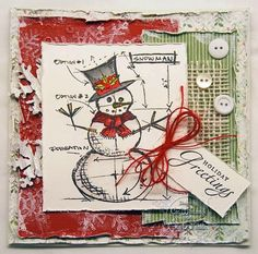 Frilly and Funkie: Saturday Step X Step - Christmas Card by Cec using Tim Holtz, Ranger, Sizzix and Stamper's Anonymous products; Nov 2014