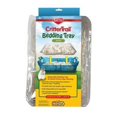 SMALL ANIMAL - BEDDING - CRITTERTRAIL KT BEDDING TRAY - 3CT - CENTRAL - SUPER PET/PETs INTL - UPC: 45125606034 - DEPT: SMALL ANIMAL PRODUCTS