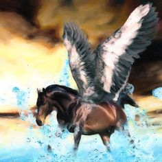 Pegasus  Link to my website and online store in my bio if you want to purchase prints of my artwork. Thank you!  #chrisharrisart #digitalart #picture #fineart #prints #photoshop #adobe #artofinstagram #digitalartist #graphicdesign #creativeart #photoshopskills #3dart#greekmythology #pegasus #flyinghorse #ocean #splash #feathers #wings #wingedhorse #stallion #clouds #gelding #mare #horsesofinstagram #fantasy #mythology