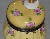 Vintage Limoges France Porcelain Trinket Jewelry Pill Box HP