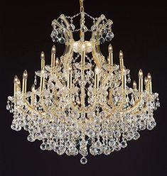 "Maria Theresa Empress Crystal(Tm) Chandelier Lighting H 36"" W 36"" - Cjd-B6/Cg/2181/36"