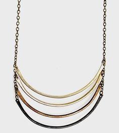 Short Ombre Arc Necklace | Delicate, with just the right amount of edge, this ladder-styl... | Necklaces