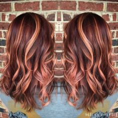 Beautiful Rose Gold Hair Color Ideas 17
