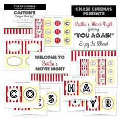 printable movie party designs